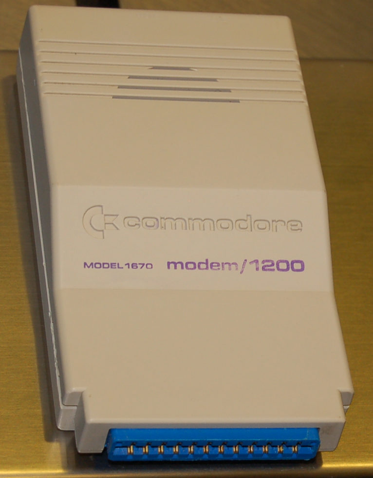 Commodore Modem, Model 1670, 1200 baud