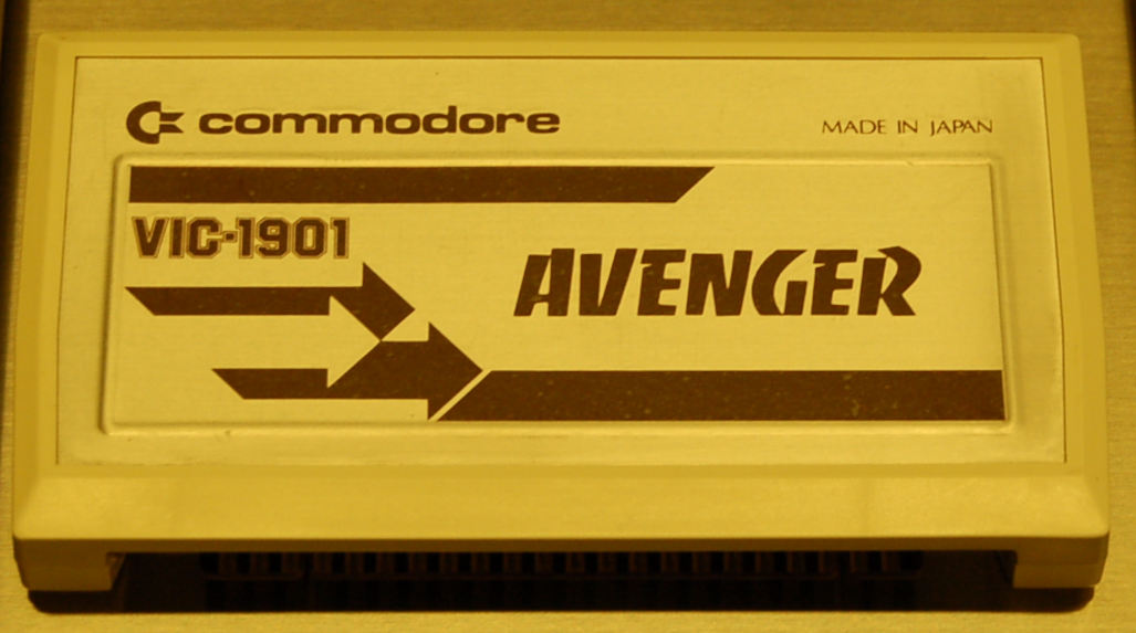 Commodore VIC-20 Game Cartridge, VIC-1901, AVENGER