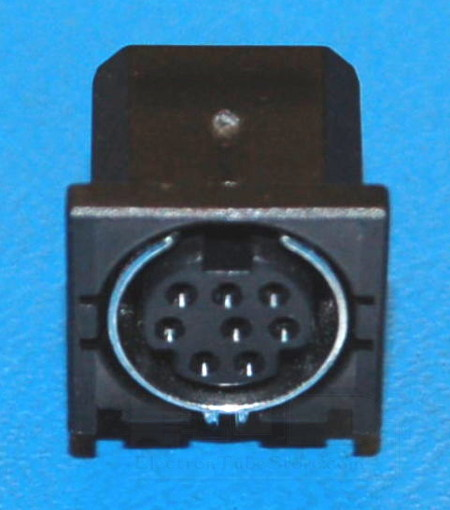 Mini-DIN-8 Female Connector x Through-Hole