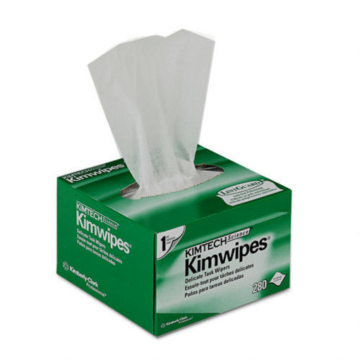 "Kimberly-Clark Kimwipes, 4.4"" x 8.4"" (11 x 21cm), 280/Box"