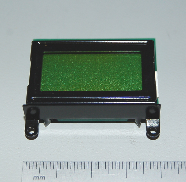 LCD 16CH Module, 8 Characters x 2 Lines, 5x8 Dots, Black on Green, STN