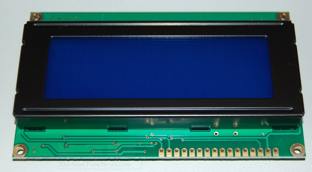 LCD 80CH Module, 20 Characters x 4 Lines, 5x8 Dots, White on Blue Backlight