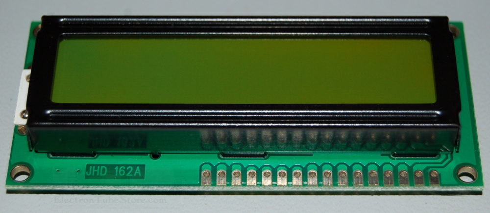 LCD 32CH Module, 16 Characters x 2 Lines, 5x8 Dots, Black on Green Backlight