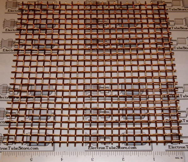 "Bronze 4-Mesh (5mm / .203"" Wd), .047"" Wire, 6x6"""