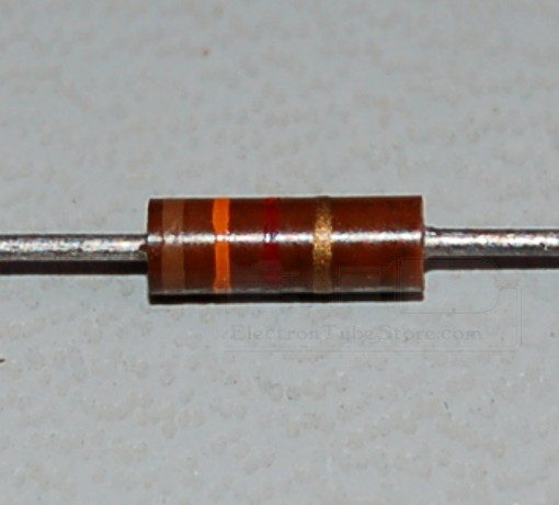 Carbon Composition Resistor, 1/4W, 5%, 1.3kΩ