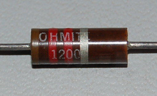Carbon Composition Resistor, 1W, 10%, 1.2kΩ