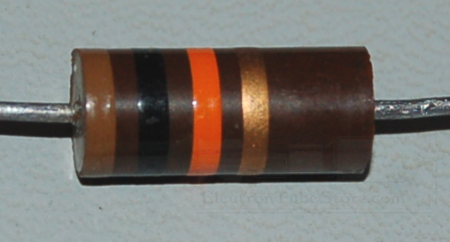 Carbon Composition Resistor, 2W, 5%, 10kΩ