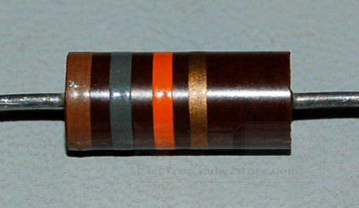 Carbon Composition Resistor, 2W, 5%, 18kΩ