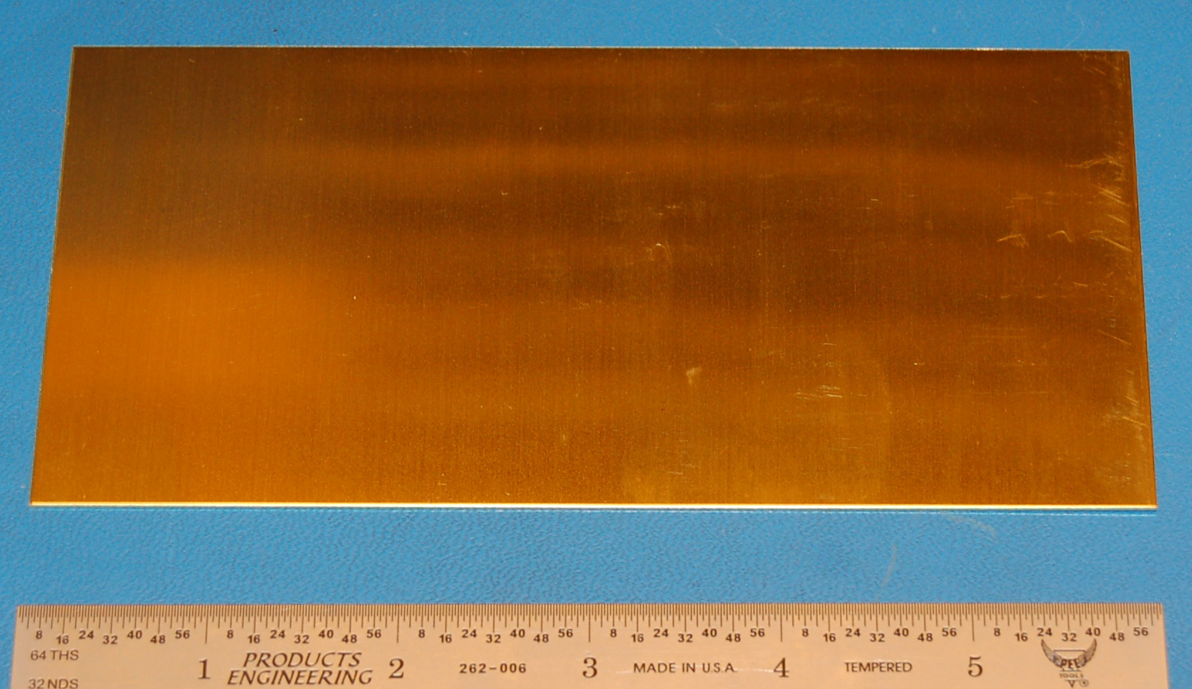"Brass 260 Sheet, .032"" (0.8mm), 6x3"""
