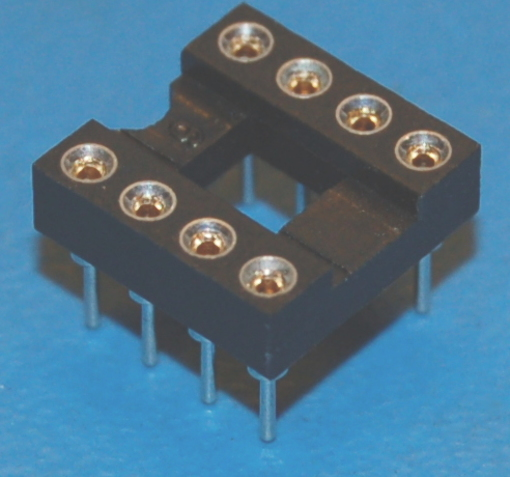 IC Socket, DIP-8 x Through-Hole